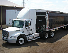 Quality Mulch Truck and Trailer